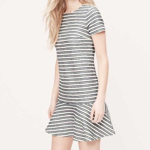 Loft Dresses Plus Size Tweed Striped Tennis Dress Poshmark